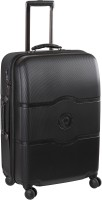 Delsey Chatelet Hard 55Cm Chocolate Small Trolley Luggage Small Briefcase - For Men & Women(Black)