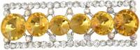 Taj Pearl Designer Brooch(Silver)
