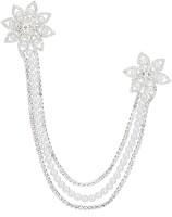 Creative India Exports Men And Women Non Precious Metal White Pearl Brooch(Silver)