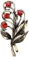 FURE Flowering Leaves Brooch(Red)