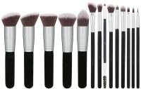 Shrih Foundations Concealers Eye Shadows Silver Black Makeup Brush Sets(Pack of 14)