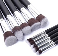 Akago Premium Synthetic Kabuki Makeup Brush Set(Pack of 10)