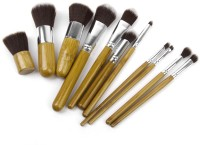 Magideal Foundation Brush with Linen Bag(Pack of 11)
