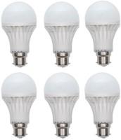 birdy 5 W Standard B22 LED Bulb(White, Pack of 6)