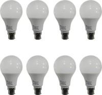Syska Led Lights 9 W Standard B22 LED Bulb(White, Pack of 8)