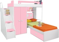 Alex Daisy Boston Engineered Wood Bunk Bed(Finish Color - Pink & White)