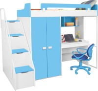 Alex Daisy Boston Engineered Wood Loft Bed(Finish Color - Blue & White)