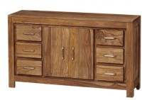 View The Attic Solid Wood Free Standing Sideboard(Finish Color - Walnut Brown) Price Online(The Attic)