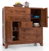 Urban Ladder Magellan Solid Wood Free Standing Chest of Drawers(Finish Color - Teak)