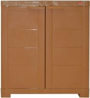 View Cello Storage Cupboard Plastic Cupboard(Finish Color - Wood) Furniture (Cello)