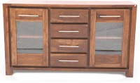 Evok Nerw York Solid Wood Cabinet(Finish Color - Brown)