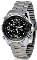 Autosity Detective Survilliance Stylish Chain Wrist Watch HD Camera Spy Camcorder(Black)
