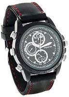 AUTOSiTY Secrete Detective Black Leather Spy Watch Camcorder(Black)