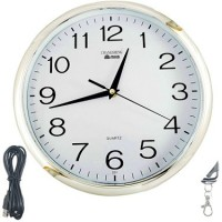 Autosity Secrete Detective Wall-Clock Clock Spy Product Camcorder(White)