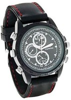 Autosity Detective Survilliance Leather Wrist Watch (sc) Spy Product Camera Camcorder(Black)