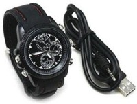 Autosity Detective Security Black Leather Spy Watch Camcorder(Black)