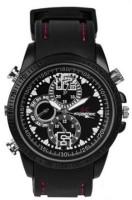 Autosity Detective Survilliance Sporty Look Black C00212 Watch Spy Camera product Camcorder(Black)