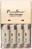 Power Smart 2300 MaH X 4 Cells 5 Hour 2 LED With Automatic Cut Off Function AA Camera Battery PS 1002 AA-AAA NiCD NiMH Fast Charger Set  Camera Battery Charger(White)