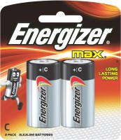 Energizer Max Alkaline Battery E93BP2 C Size - 2 Pack  Camera Battery Charger
