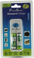 Power Smart Standard Charger with 2 AA Batteries(2100mAh Capacity)  Camera Battery Charger