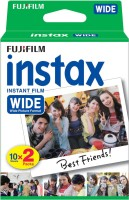 Fujifilm Instax Wide 20 Sheet Pack Film Roll(Yes 800 ISO Pack of 1)