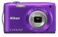 Nikon S3300 Point & Shoot Camera(Purple)