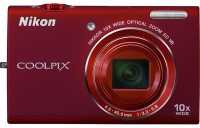 Nikon S6200 Point & Shoot Camera(Red)