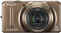 Nikon S9200 Point & Shoot Camera(Brown)
