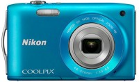 Nikon S3300 Point & Shoot Camera(Blue)