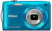 Nikon S3300 Point & Shoot Camera(Blue)