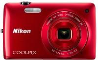 Nikon S4300 Point & Shoot Camera(Red)
