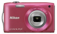 Nikon S3300 Point & Shoot Camera(Pink)