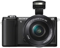 Sony ILCE-5000L with SELP1650 Lens Mirrorless Camera(Black)