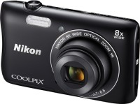 Nikon S3700 Point & Shoot Camera(Black)