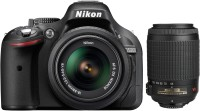 Nikon D5200 DSLR Camera (Body with AF-S 18 - 55 mm VR II + AF-S 55 - 200 mm ED VR II Kit Lens)(Black)
