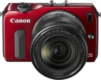 Canon EOS-M Body with 18 - 55 mm Lens Mirrorless Camera(Red)