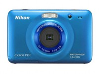 Nikon S30 Point & Shoot Camera(Blue)