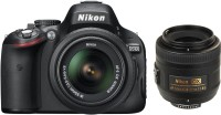 Nikon D5100 with (AF-S 18 - 55 mm VR Kit + AF-S DX NIKKOR 35 mm f/1.8G) DSLR Camera(Black)
