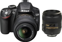 Nikon D3200 (Body with AF-S 18 - 55 mm VR Kit + AF-S NIKKOR 50 mm F/1.8G Le) DSLR Camera(Black)