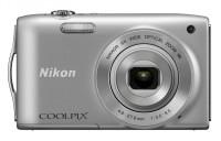 Nikon S3300 Point & Shoot Camera(Silver)