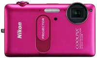 Nikon S1200pj Mirrorless Camera(Pink)