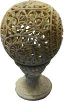 Artist Haat Stoneware Tealight Holder(Beige, Pack of 1)