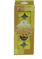 Amazing Bazaar AB SWEET MELON Candle(Yellow, Pack of 10)