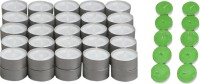 Rasmy Candles White Tealight 50pcs & Jasmine scented tealight 10 pc combo Candle(White, Green, Pack of 60)