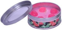 Indigo Creatives Strawberry scented perfume retaining reusable metal box diwali christmas candle Candle(Multicolor, Pack of 1)