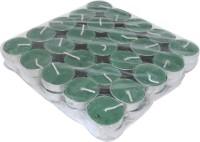Kriti Creations Set Of 50 Perfumed Tea-Lights Candle(Green, Pack of 50)