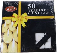 Shree Krishna Handicrafts And Gallery Tea lights Pack of 50 pcs Candle(White, Pack of 50)