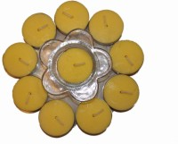 Fragrance Concoction Jasmine fragrance Tealight with stand Candle(Yellow, Pack of 1)