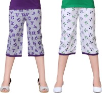 Sini Mini Capri For Girls Printed Cotton(Multicolor)
