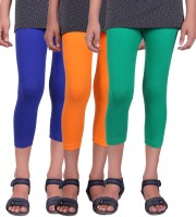 Alisha Capri For Girls Solid(Multicolor)